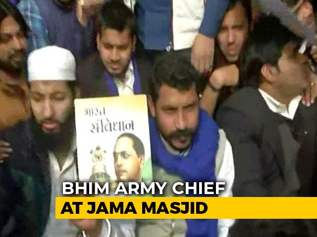 Video : Bhim Army Chief Back At Jama Masjid Hours Before Deadline To Leave Delhi