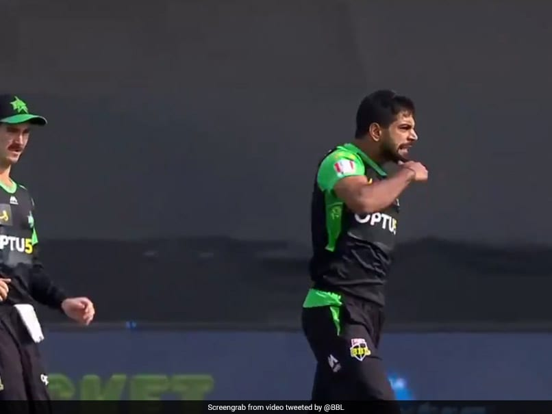 "BBL: Pakistani Fast Bowler Haris Raufs ""Slit-Throat"" Celebration Draws Flak On Twitter"