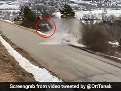 Horrifying Video Shows Rally Champion's Car Spinning, Flying Off Mountain