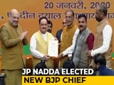 Video : JP Nadda Elected Unopposed As BJP Chief, Takes Over From Amit Shah