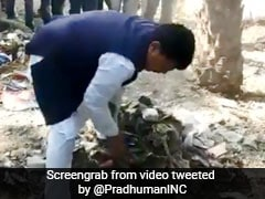 Watch: Madhya Pradesh Minister Picks Up Spade, Clean Dry Waste