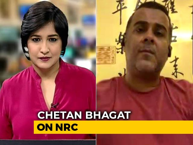 "Video : ""NRC Secular, But A Secular Harassment For All"": Chetan Bhagat To NDTV"