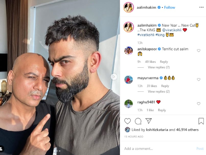 Virat Kohli Flaunts New Haircut Ahead Of Sri Lanka T20is Anil Kapoor Reacts Cricket News