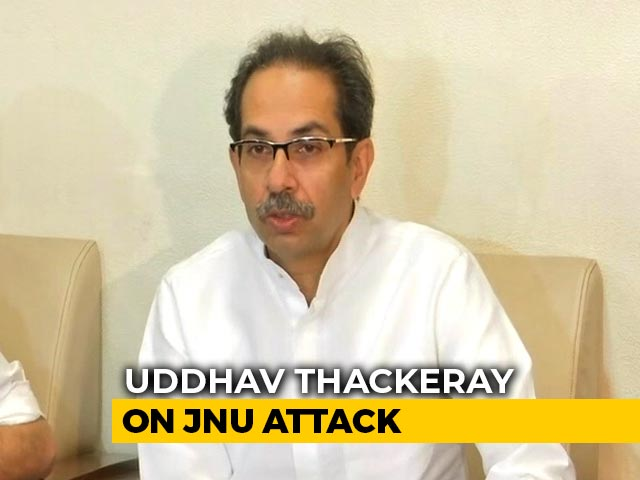 "Video : ""Reminded Of 26/11"": Uddhav Thackeray On JNU Mob Attack"