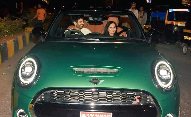 Kartik Aaryan Gifts His Mom A Mini Cooper Convertible On Her Birthday. See Pics