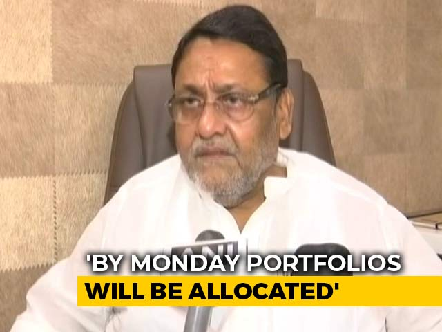 Video : Maharashtra Portfolio Allocation To Be Completed By Monday: NCP Leader