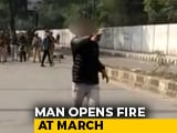 "Video : Man Fires At Protesters Near Jamia In Delhi, Shouts <i>""Yeh Lo Aazadi""</i>"
