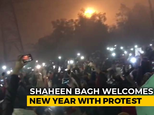 Video : Hundreds Usher In New Year At Delhi's Shaheen Bagh With Protest Over Citizenship Law