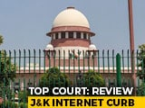 Video : J&K Internet Curbs, All Restrictions To Be Reviewed In A Week: Top Court