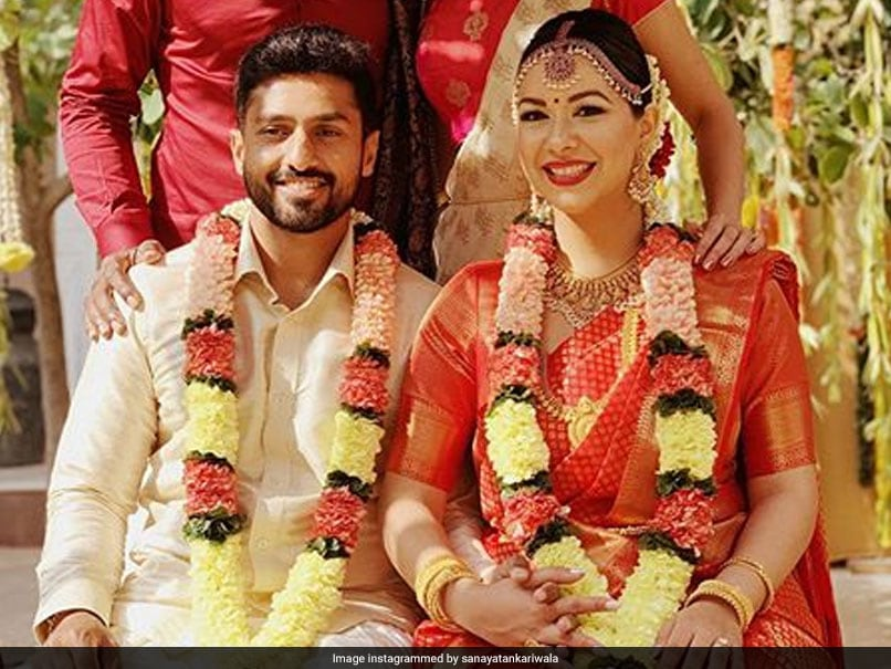 Karun Nair Marries Long-Time Girlfriend Sanaya Tankariwala, Shreyas Iyer, Varun Aaron Post Pictures