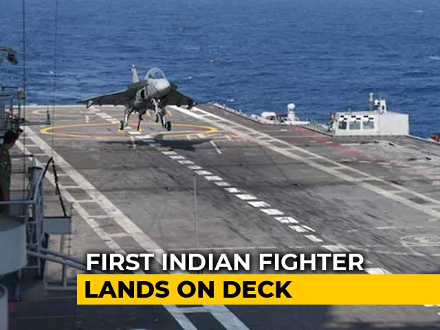 Video : Watch: Naval Tejas Prototype Lands On Aircraft Carrier
