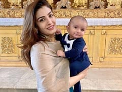 Here's What Raveena Tandon Gave Her Foster Grandson Rudra For His Baptism