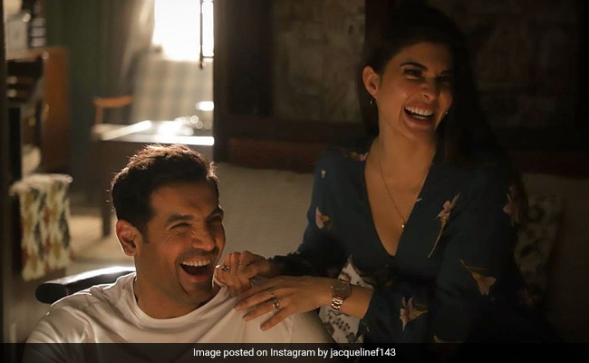 Seen This Pic Of Jacqueline Fernandez And John Abraham From The Sets Of Attack?