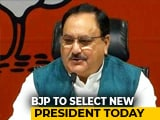 Video : JP Nadda Likely To Be Elected Unopposed As BJP Chief Today