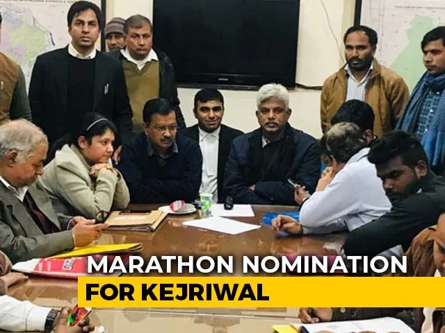 Video : After Waiting Over 6 Hours, Arvind Kejriwal Files Nomination For Delhi Polls