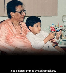 Aaditya Thackeray's Throwback Pic On Bal Thackeray's Birth Anniversary