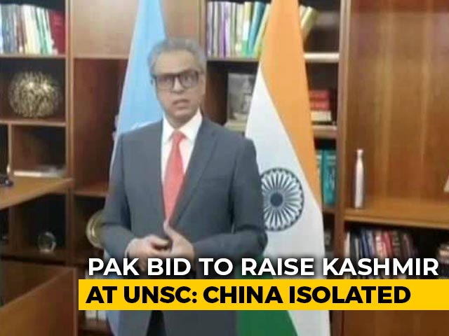 Video : China-Backed Pak Bid To Raise Kashmir At UN Security Council Flops Again