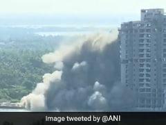 केरल में चंद पलों में जमींदोज हुई 55 मीटर ऊंची इमारत, देखें Video