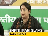 "Video : ""Nirbhaya Convicts Won't Hang In Time Because Of AAP"": Smriti Irani"