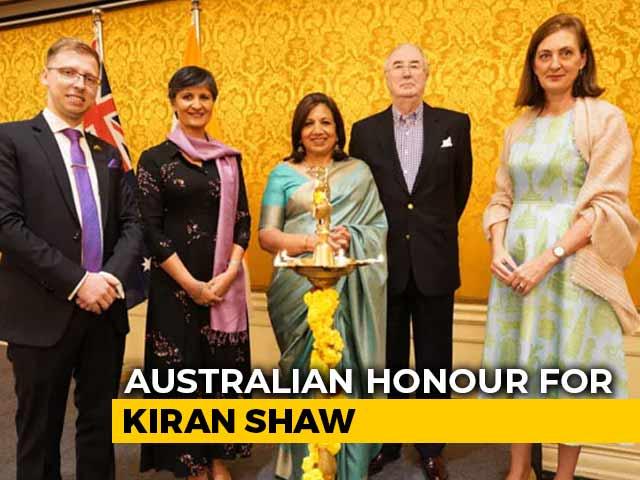 Video : Kiran Mazumdar-Shaw Conferred With Australia's Highest Civilian Honour
