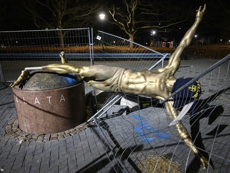 Football: Thats why Zlatan Ibrahimovic statue is toppeled off in Malmo
