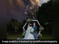 Couple Gets Married As Volcano Erupts Behind Them