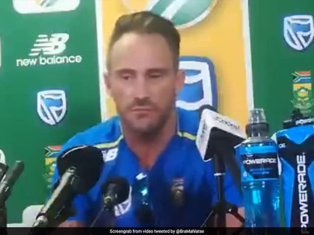 SA vs ENG: Faf du Plessis involves in a heated moment in Johannesburg test