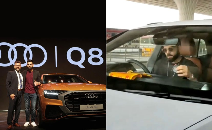 Audi India Boss Balbir Singh Dhillon with Virat Kohli at the Audi Q8 launch recently