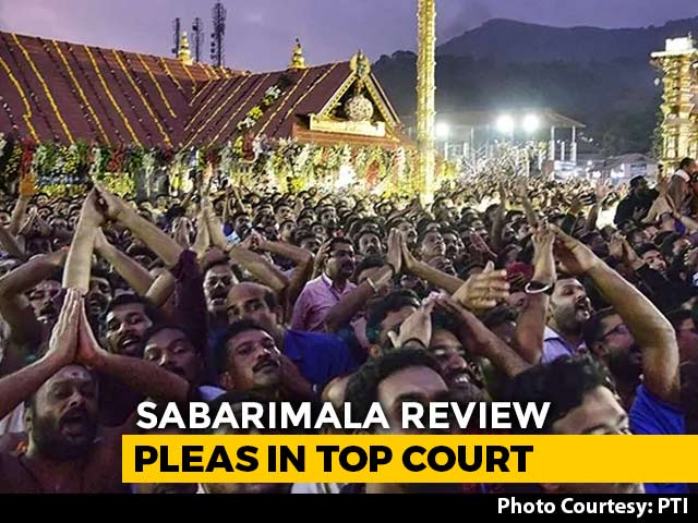Video : Top Court To Hear Issue Of Women's Entry In Sabarimala Temple Today