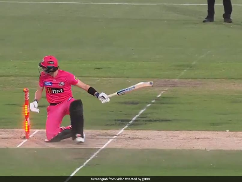 Watch: BBL Team Celebrates Steve Smiths Hit Wicket Dismissal, But He Remains Not Out