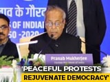 Video : Amid CAA Protests, Pranab Mukherjee Talks Of Authoritarianism, Dissent