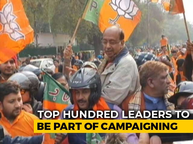 Video : 5,000 Rallies In 20 Days: BJP's Big Plan For Delhi Elections