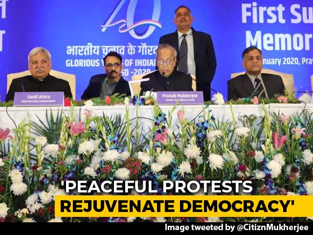 Video : Democracy Thrives On Dissent, Says Pranab Mukherjee Amid CAA Protests