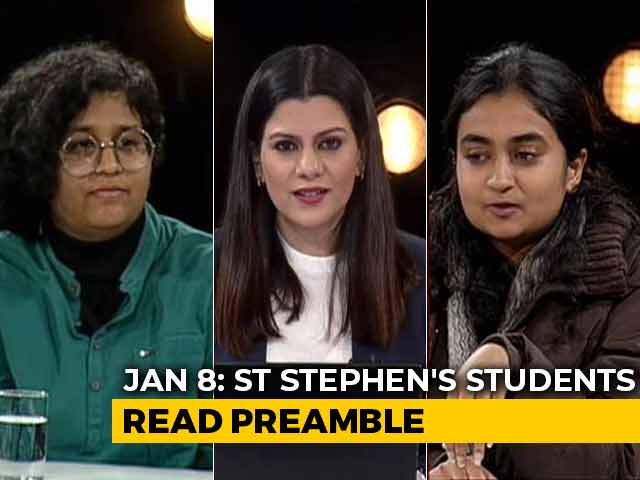 Video : St Stephen's Stands In Solidarity With JNU