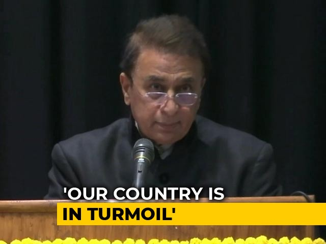 Video : Country In Turmoil But We Have Overcome Crisis Before Too: Sunil Gavaskar