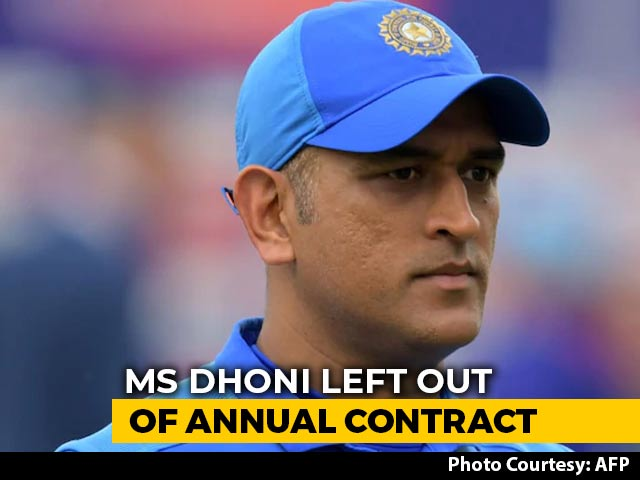 MS Dhoni Dropped From BCCI's Top Players' Contract List