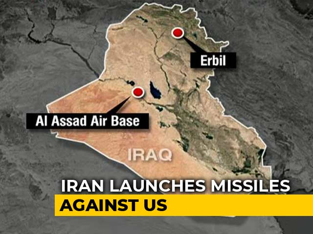 Video : Iran Fires Missiles Against US Bases In Iraq