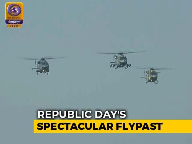 Video : Chinook, Apache Helicopters Debut In Republic Day's Spectacular Flypast