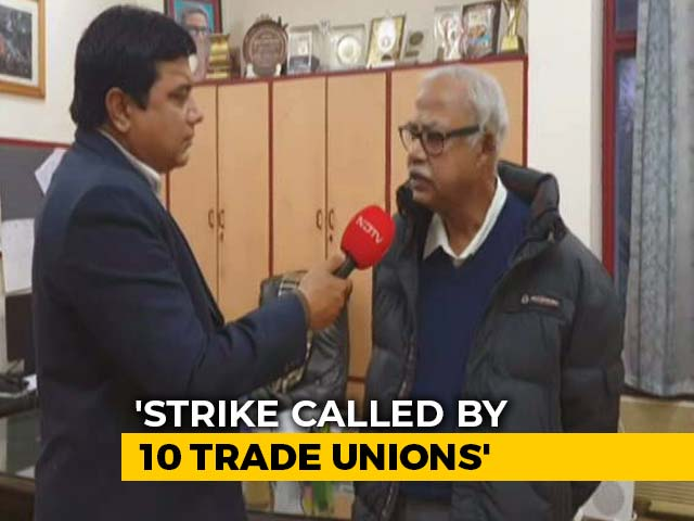 Video : Government's Warning Ahead Of Trade Unions' 24-Hour Strike