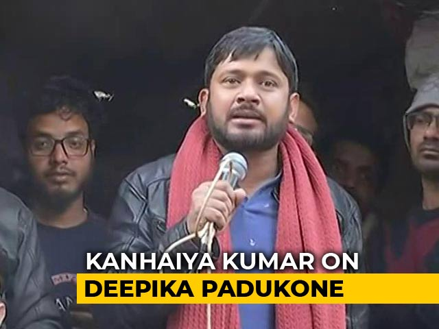 "Video : ""Deepika Padukone Patriot Earlier, Now..."": Kanhaiya Kumar On Criticism"