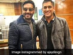 अजय देवगन ने एमएस धोनी के साथ शेयर की फोटो, लिखा- हमारे देश को एकजुट करने वाला धर्म है...