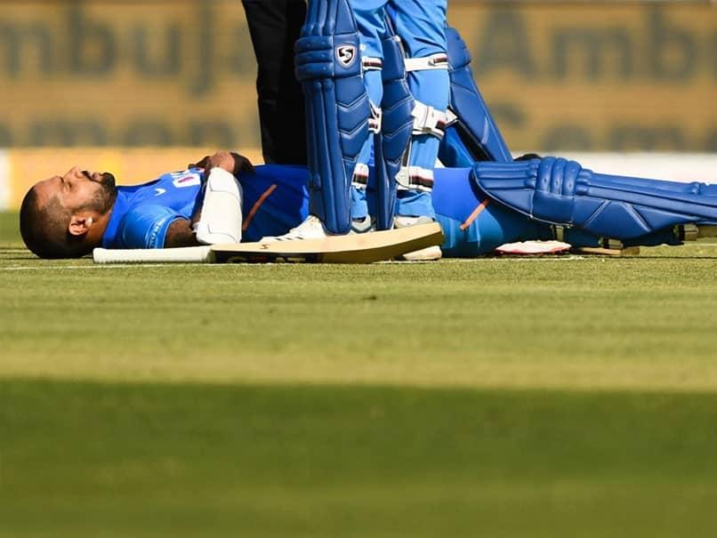 India vs Australia 2nd ODI: Rib Injury Prevents Shikhar Dhawan From Fielding Against Australia