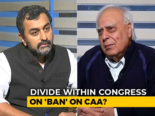 Video : I Am Arguing Case In Supreme Court On Unconstitutionality Of CAA: Kapil Sibal