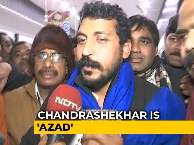 "Video : ""Crime To Read The Preamble?"" Chandrashekhar Azad Released From Jail"