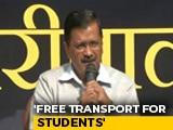 Video : Arvind Kejriwal Promises Delhi 24-Hour Drinking Water, Free Bus Rides