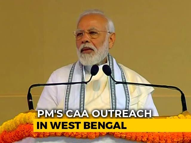 Video: 'Citizenship Law Not To Snatch Citizenship...': PM In Kolkata On Day 2