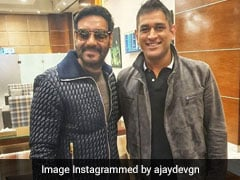 MS Dhoni Poses With Ajay Devgn, Tanhaji Star Gives Picture A Solid Caption