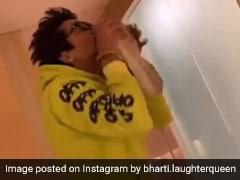 भारती सिंह जाने लगीं मायके तो पति की खुशी का नहीं रहा ठिकाना, जूते उठाकर लगे चूमने- देखें Video