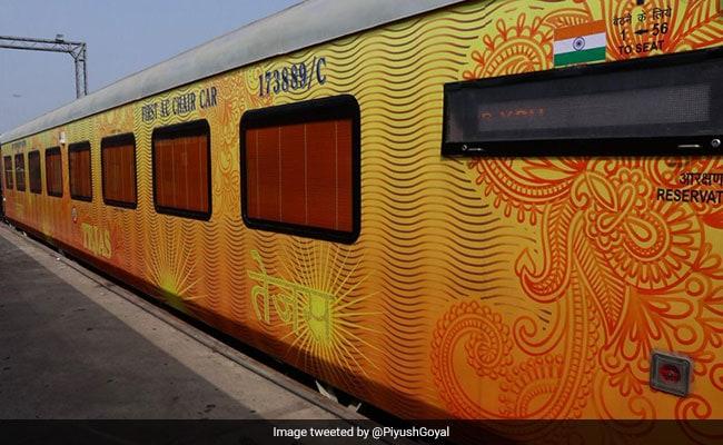 Gujarat Chief Minister Vijay Rupani Flags Off Ahmedabad-Mumbai Tejas Express
