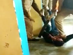 On Camera, 3 UP Cops Pin Supected Phone Thief To Ground, Torture Him